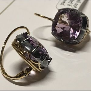Fred Leighton Amethyst Earrings Authentic NEW